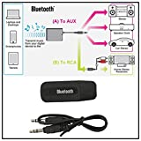 STRIR menudo Receptor de adaptador de audio Bluetooth receptor dongle con jack de 3,5 mm (Negro)