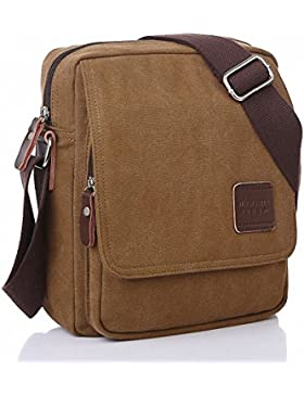 Kaylena Uomo Resistente All'Acqua Tela Crossbody Messenger Borsa