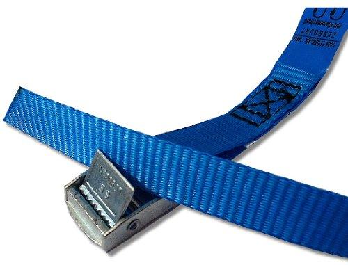 Paar (2Stk) Befestigungsriemen Set Farbe wählbar , ideal zur Befestigung am Fahrradträger , Auto Heckträger Fahrrad , Klemschloss Gurte , Spanngurte , Camping Outdoor , iapyx® (blau)