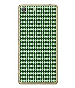 PrintVisa Designer Back Case Cover for Sony Xperia M5 Dual :: Sony Xperia M5 E5633 E5643 E5663 (fine sober attractive pattern green shades white)