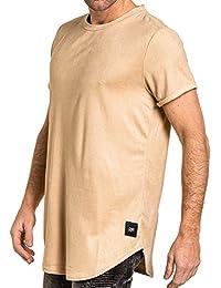Sixth June - Tee-shirt homme beige effet daim oversize