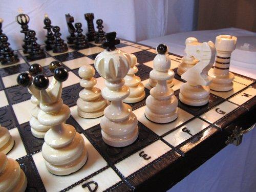 ChessEbook PEARL LARGE - Ajedrez de Madera, Tablero de 42 x 42 cm