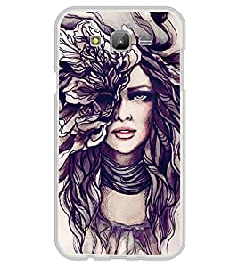Girl Sketch 2D Hard Polycarbonate Designer Back Case Cover for Samsung Galaxy J5 (2015 Old Model) :: Samsung Galaxy J5 Duos :: Samsung Galaxy J5 J500F :: Samsung Galaxy J5 J500FN J500G J500Y J500M