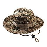 SEWORLD Heißer Einzigartige Einstellbare Eimer Hüte Camouflage Boonie Cap Nepalesische Kappe Armee Herren Damen Fangkappe Outdoor Sonnenschutz Jagd Hut(A9)