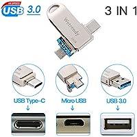 Dual USB Drive 3.0 Android Unità Flash 32 GB Tipo C memoria Micro USB Pendrive OTG Chiavetta Ultra Type-C per Android, Telefono, Macbook