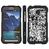 Mobiflare Slim Guard Armor Design Case for [Samsung Galaxy (S5 Active)] - Winter Digital Camo