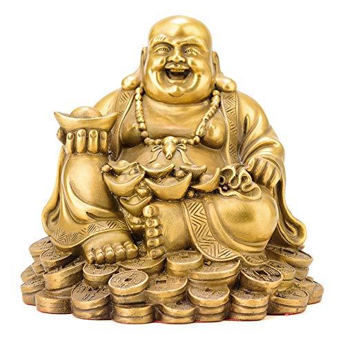 DDCYY Messing-Maitreya-Buddha-Statue, Buddhistische Statue, GlüCk, Big Belly Smiley Maitreya, BüCherregal Desktop-Sammlung, Startseite Skulptur, Charakter (13 X 12 X 12 - Big Belly Kostüm