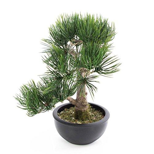 artplants Künstlicher Bonsai Pinie in Schale, 43 Nadelzweige, 34 cm – Bonsai künstlich/Kunstpflanze Bonsai