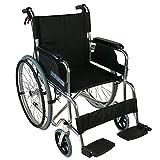 Klappbarer Rollstuhl aus Aluminium mit Selbstantrieb   Feste Armlehnen und Füßstütze   Sitzbreite: 46 cm   Maximale Belastbarkeit 100 kg   Palacio Modell   Mobiclinic