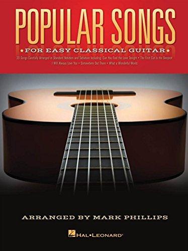 Preisvergleich Produktbild Popular Songs For Easy Classical Guitar. Für Klassische Gitarre