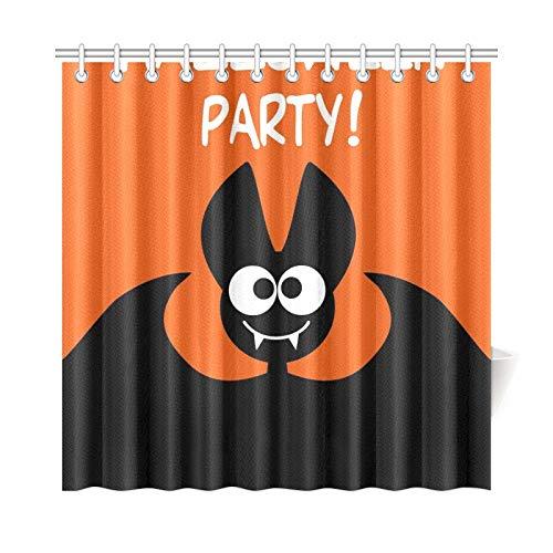 JOCHUAN Wohnkultur Bad Vorhang Halloween Party Idee Festliche Druckprodukte Polyester Stoff Wasserdicht Duschvorhang Für Bad, 72X72 Zoll Duschvorhang Haken Enthalten