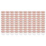 WELLGRO® Einmachgläser mit Schraubdeckel - 230 ml, 8,5 x 6,5 cm (ØxH), Glas/Metall, rot karierte Deckel To 82, Gläser Made in Germany, verschiedene Mengen wählbar, Stückzahl:100 Stück