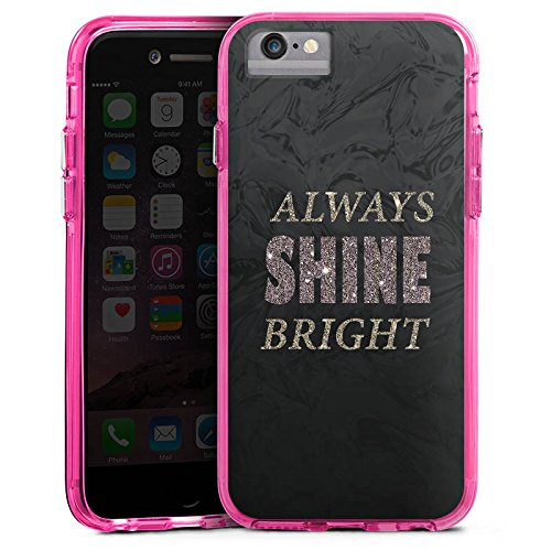 Apple iPhone 8 Bumper Hülle Bumper Case Glitzer Hülle Shine Brille Glitter Bumper Case transparent pink