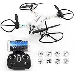 RC Quadricottero Drone con Camera-GoolRC T32 Wifi FPV 2.4Ghz 4CH RC Quadricottero Pieghevole Drone con Telecamera 720P