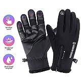 COSYINSOFA wasserdichte Handschuhe Touchscreen Outdoor Skifahren Radfahren Camping Wandern Handschuhe, Anti-Rutsch-Vollfinger-Thermo-Winterhandschuhe für Männer und Frauen