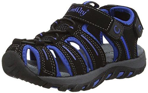 ConWay  160345, Sandales sport et outdoor garçon Noir - Noir/bleu