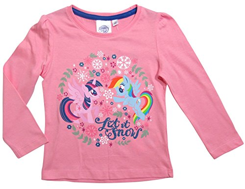 Pony My Little Kollektion 2017 Langarmshirt 92 98 104 110 116 122 128 Rainbow Dash und Twilight Sparkle Rosa (92-98, Rosa) (Rainbow Dash Pullover)