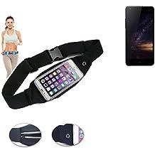 Cinturón de bandolera bolso de la cintura bolsa para Siswoo I8 Panther, negro. Aptitud del deporte de la cubierta a prueba de lluvia Ejercicio corriente - K-S-Trade (TM)