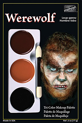 (Costumes For All Occasions DD151 Tri Color Palette Wolfman by Mehron Inc. *A/R*)