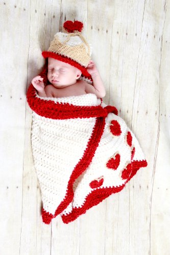 Queen of Hearts cocoon and Hat Crochet Pattern PDF 532 (English (Hearts Of Hat Queen)