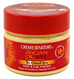 Creme Of Nature 75724082571 - hair creams (Women, Shine, Smoothing, Softening, Pot, Scoop a liberal amount and smooth downward on small sections of damp hair using fingertips. Twist, s)