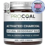 Natural Deodorant with Activated Charcoal by PROCOAL - 100% Aluminium Free Deodorant Mens & Womens, Better Than Nuud & Native Deodorants, Cruelty-Free, Paraben, Phthalates & Plastic Free, Made in UK