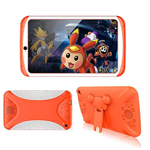 7 Pulgadas Kids Tablet Quad Core Android niño Tablet PC 8GB preinstalado niños educación Juegos cumpleaños Navidad Regalo,Orange