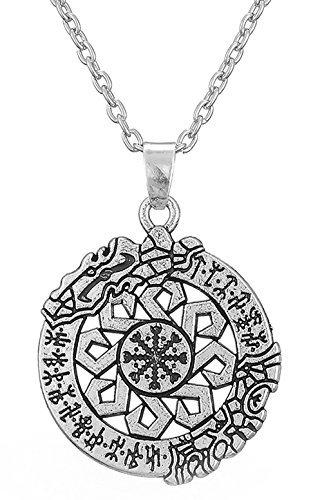 Antigua Talisman Aegishjalmur runas colgante Asatru nórdico vikingo joyas para hombres mujeres