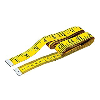 ATWFS 3m weich Maßband, Zentimeter und Zoll, Maßband für Körper Messung Gewichtsverlust-Schneider mit Lineal