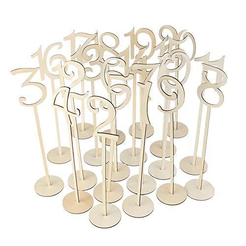 1-20 Anzahl Karte mit Halter Basis für Hochzeitsdekoration aus Holz Ornamente Dinner Party Supplies ()