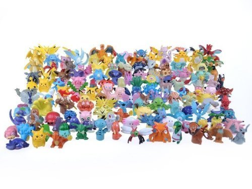 24 personnages différents Pokemon dans l'ensemble FIGURES CARTON 1-3 cm - pas un jouet - parfait pour les bas de Noël pour remplir Mini Monster Pokemon Pikachu GO Anime Manga Comic thematys®