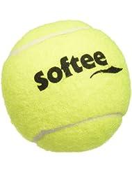 Softee 0006406–Sac 3balles de tennis initiation, couleur jaune, taille L