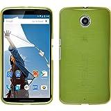 PhoneNatic Case für Google Nexus 6 Hülle Silikon pastellgrün, brushed + 2 Schutzfolien