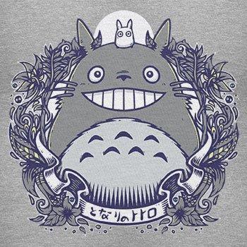 NERDO - Nachbarn - Damen T-Shirt Grau Meliert