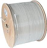 Axing SKB 94-03 Koaxialkabel 3-fach geschirmt Klasse A+ für Sat und Multimedia-Kabelanschluss 500 m Trommel weiß