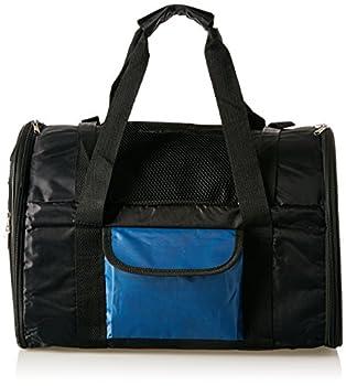 Trixie Sac à Dos Transport pour Chats ou Petits Chiens 42 × 29 × 21 cm, Noir/Bleu