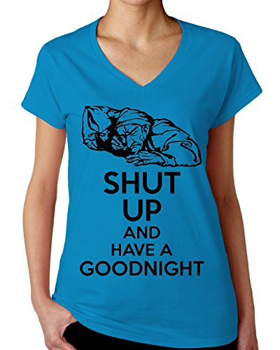 Shut Up And Have A Goodnight Women's V-Neck T-Shirt XX-Large