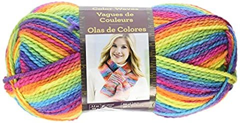 Lion Brand Yarn Couleur Waves fil, acrylique, (Arcobaleno Lana)
