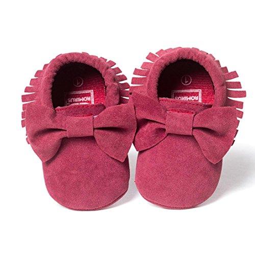 Lauflernschuhe Freizeitschuhe Hot Baby Turnschuhe 18 0 Schuhe Pailletten ~ Pink Monate Babyschuhe Longra Weiche Kleinkind Fransen Sohle Kinderbett 4gPwA