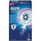 Oral-B Pro 3000 - Cepillo de dientes eléctrico de rotación, color blanco y azul