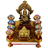 Top Quality Ashtalaxmi Yantra Brass Chowki | Mahalakshmi Yantra Chowki For Success/Money / Home | Size 14 X 14 X 12 | Shree Ashta Laxmi For Diwali Puja