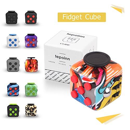 #Tepoinn Fidget Spinner Tri Fidget Hand Finger Zappeln Spinner mit Si3N4 Hybrid Keramikkugellager 1-3 Minunten Spins EDC Focus Spielzeug (A A)#