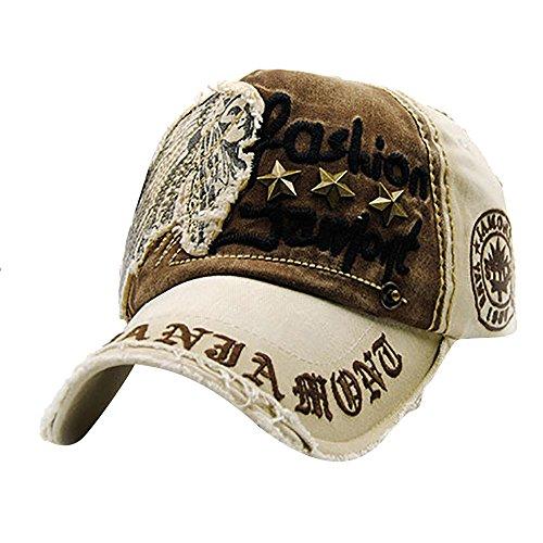 BakeLIN Unisex Brief Patch Einstellbare Hip Hop Hut Baseball Outdoor Sport Mütze Sun Cap (Einheitsgröße, B) Irish Patch Cap