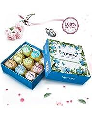 Skymore Kit Bombe de Bain, 100% Pure & Naturel Ingrédients, Essentielle Huile Boules de Bain, Coffret Cadeau de Luxe
