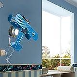AGECC Retro Flugzeuge Wandleuchte Led Junge Zimmer Wandleuchte Kinderzimmer Lampe Am Bett Cartoon Kreative Lampe C