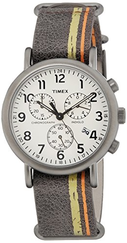 Timex Weekender Chronograph Off-White Dial Men's Watch - TW2P78000  available at amazon for Rs.3597
