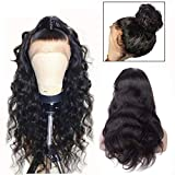 360 Lace Frontal Wig Body Wave Human Hair Wig 180% Density Brazilian Virgin 360 Full Lace Frontal Human Hair Wigs for Black Women Natural Colour 14 Inches