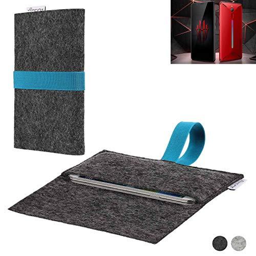 flat.design Handy Hülle Aveiro für Nubia Red Magic Mars passgenaue Filz Tasche Case Sleeve Made in Germany