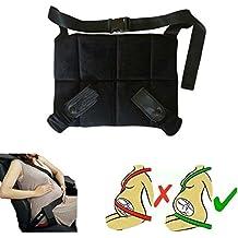 Ukia Cinturón para embarazada de seguridad en el coche,Seguro y Cómodo protege al bebé y la mamá evitando el riesgo Cinturón de Seguridad Ajustable Cinturón de Seguridad para Mujer Embarazada Seguridad del Cinturón Protector-Negro