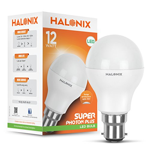 Halonix Photon Plus Base B22 12-Watt LED Bulb (Cool Day Light)